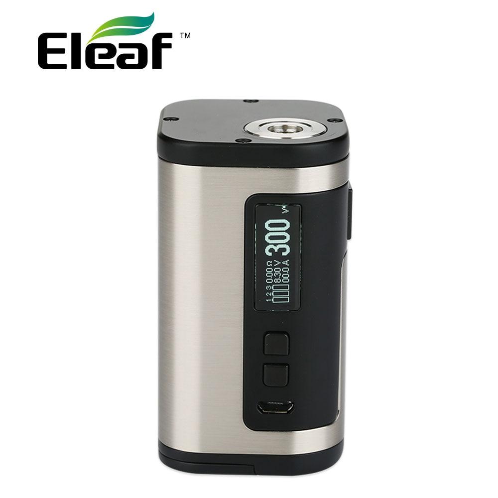 100% Original 300W Eleaf IStick Tria TC Box MOD 2A Quick Charging No 18650 Battery 300W E-cig Mod Fit Ello S Atomizer/Tria Kit original eleaf istick pico 75w tc box mod