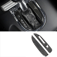 lsrtw2017 carbon fiber car gear panel trims for ford mustang 2015 2016 2017 2018 2019