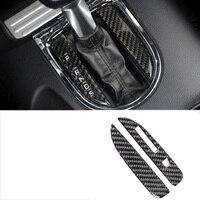 lsrtw2017 carbon fiber car gear panel trims for ford mustang 2015 2016 2017 2018 2019