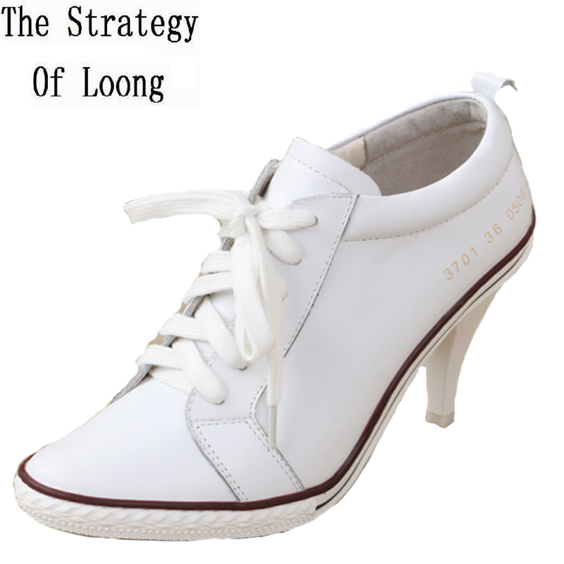 Women 2016 Spring Autumn New Corium Thin High Heel Fashion Single Shoes Round Toe Pure Color Pure Color Grace Casual Shoes spring and autumn new women fashion shoes casual comfortable flat shoes women large size pure color shoes