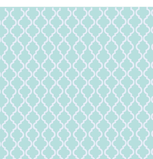 60x60FT Pale Turquoise White Moroccan Design Pattern Wall Custom Best Moroccan Design Pattern