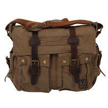 Men's Vintage Canvas Leather School Shoulder Bag Messenger Sling Crossbody Bag Satchel