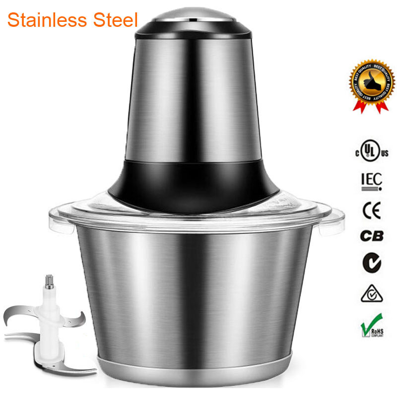 Stainless Steel Meat Grinder Chopper Electric Automatic Mincing Machine High-quality Household Grinder Food Processor cheappest small household meat mincing machine wholesale