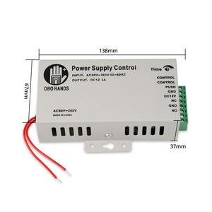 Image 2 - Sistema de controle de acesso de metal 5a, interruptor de fonte de alimentação dc12v/3a AC90V 260V entrada no/nc atraso de tempo para todos tipos fechadura eletrônica k80