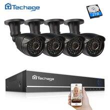 Techage 8CH DVR 1080 P HDMI видеовыход безопасности Система наблюдения ссtv 4 шт. 1080 2.0MP CCTV камера Открытый товары теле и видеонаблюдения комплект