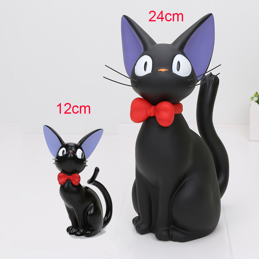 12cm/24cm Studio Ghibli Miyazaki Kiki's Delivery Service Cat PVC Action Figure Toys Piggy Bank Money Box Model Toy usb flash drive 32gb oltramax 230 om 32gb 230 white