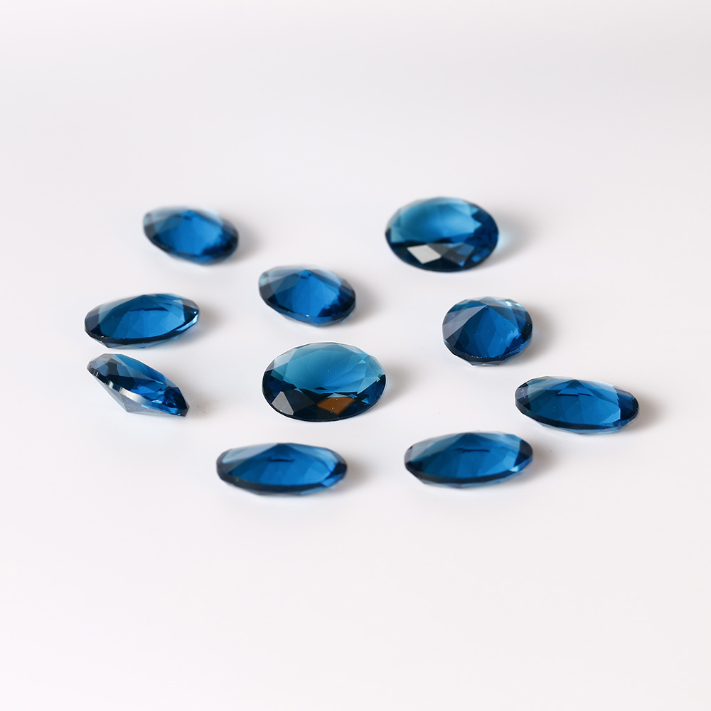 New Arrival 8.5-9ct Peacock Blue Sapphire High Quality 13x18MM Oval Loose Gemstone DIY Jewelry Accessories 10 Pcs/set Wholesale
