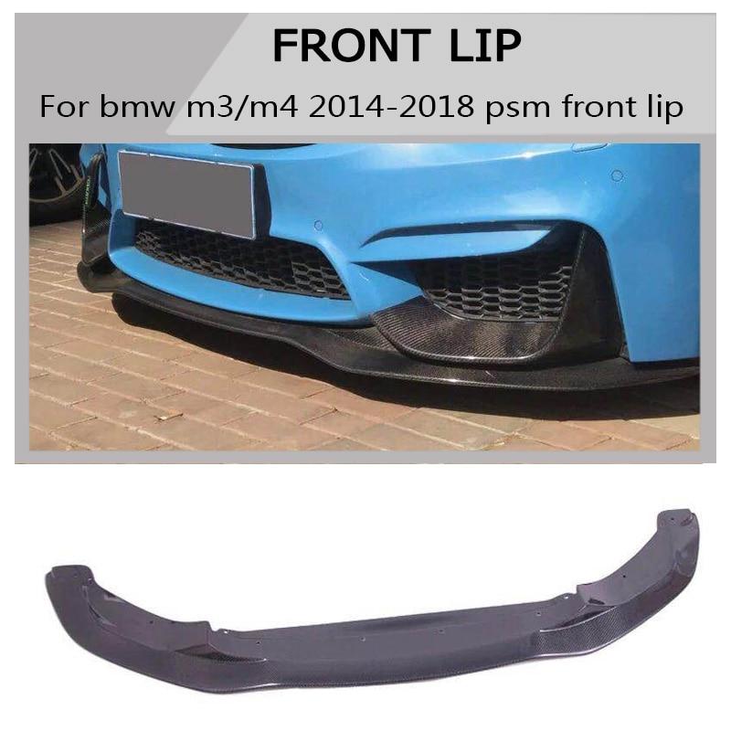 f82  Carbon fiber Bumper Splitter AC style spoiler For bmw m4 2014-2018