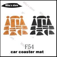 NEW PU Coaster Mats Sticker For Mini Cooper F54 CLUBMAN Car Styling Car Cup Coaster Mats