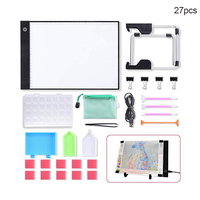 DIY LED Light Board Dimmable Light Stand Clips Mesh Bag Painting Tools for Painting Sketching HG99