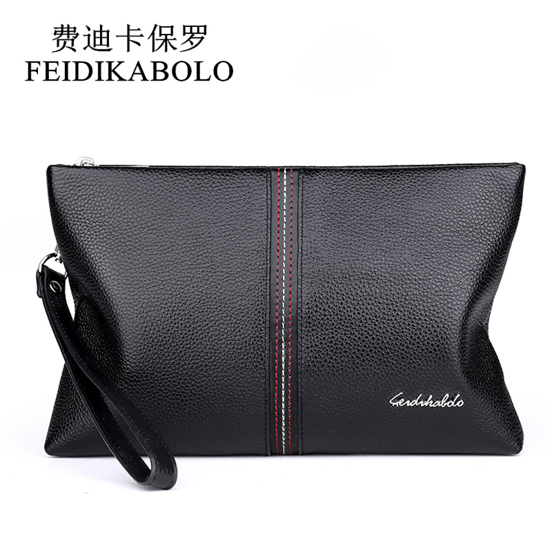 FEIDIKABOLO Genuine Leather Men Wallet Carteiras Masculinas Cowhide Leather  Purse Card Holder Coin Pocket Male Wallets 6008288585b6b