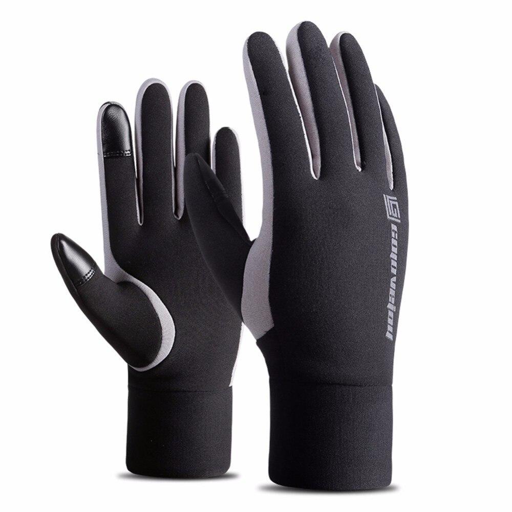 Перчатки с пальцами для спорта на открытом воздухе, велосипеда, пешего туризма, лыжного спорта для мужчин и женщин, водонепроницаемые ветро...