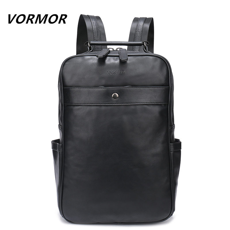 2018 Men Male Leather Backpack College Student School Backpack Bags for Teenagers Vintage Mochila Casual Rucksack Travel Daypack namvitae fashion school men backpack student laptop backpacks for teenagers oxford male mochila casual daypack bag dropshipping