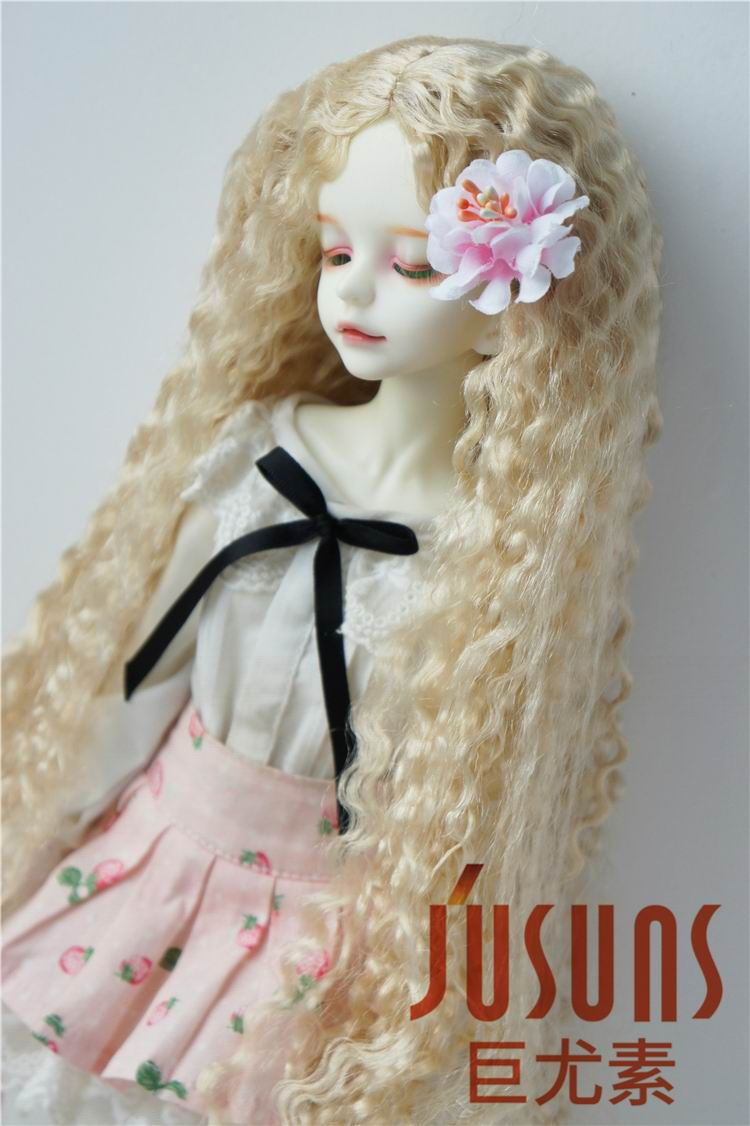 JD220 1/4 MSD Fashion BJD synthetic mohair doll wigs size 7-8 inch Long curly doll wig adiors long neat bang instant noodles curly colormix synthetic wig
