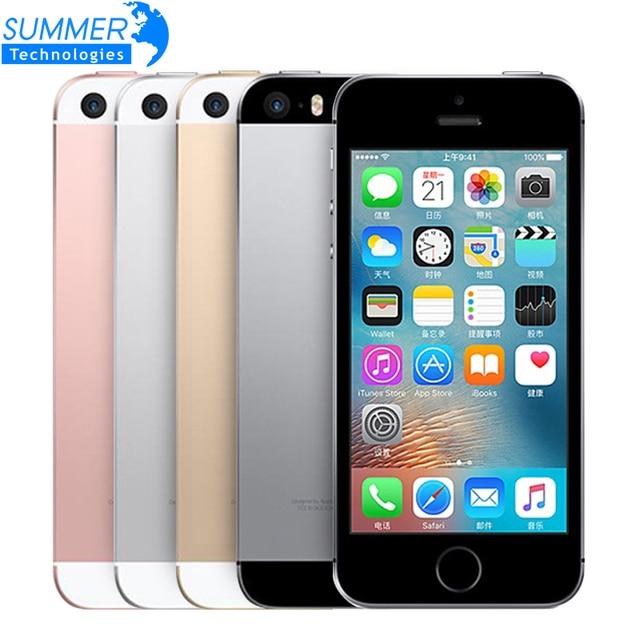 Разблокирована Оригинальный Apple iPhone Мобильного Телефона SE Двухъядерный A9 iOS 9 4 Г LTE 2 ГБ RAM 16/64 ГБ ROM 4.0 ''Отпечатков Пальцев смартфон