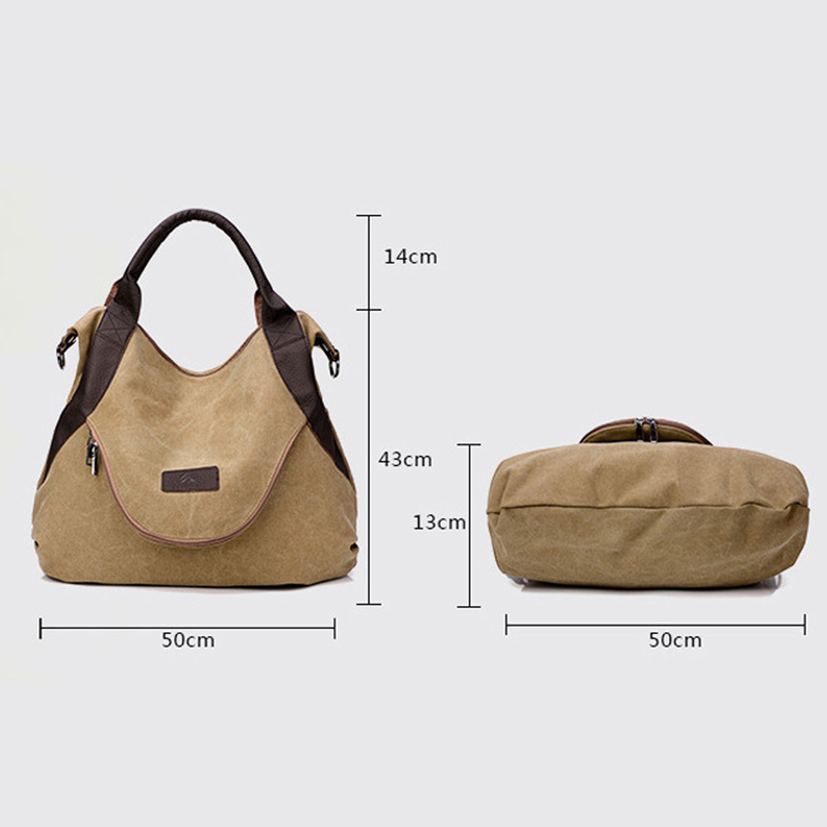 NEW Large Pocket Casual Tote Women's Handbag Shoulder Handbags Canvas Leather Capacity Bags For Women