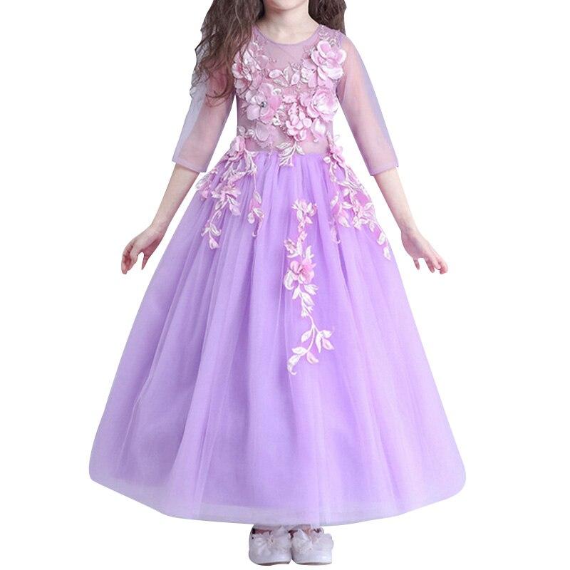 princess dress children girls dress costume dress wedding dress flower