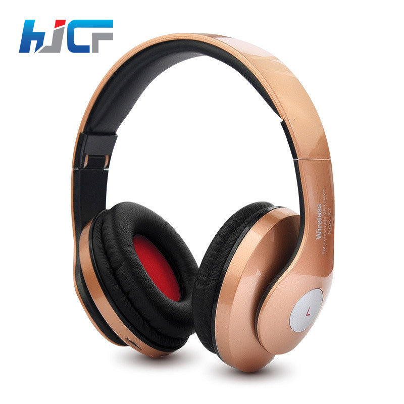 Original HJCF Bluetooth Headset With Microphone Support Micro SD/TF FM Radio Wireless Headphones For Mobile Phones KDK57 ces hot black mini sports earphones headphones headset mp3 player support micro sd tf fm radio