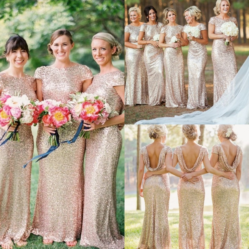 Bridesmaid Dresses Pink And Gold 76