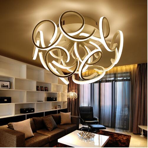 Moderne led deckenleuchten dimmen acryl wohnzimmer lampe plafond ...