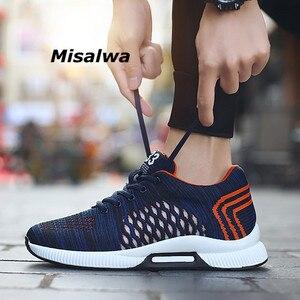 Image 1 - Misalwa 2020ฤดูร้อนแฟชั่นผู้ชายลิฟท์รองเท้าที่มองไม่เห็นเพิ่มความสูง6 CMรองเท้าสบายๆชายรองเท้าผ้าใบHombre