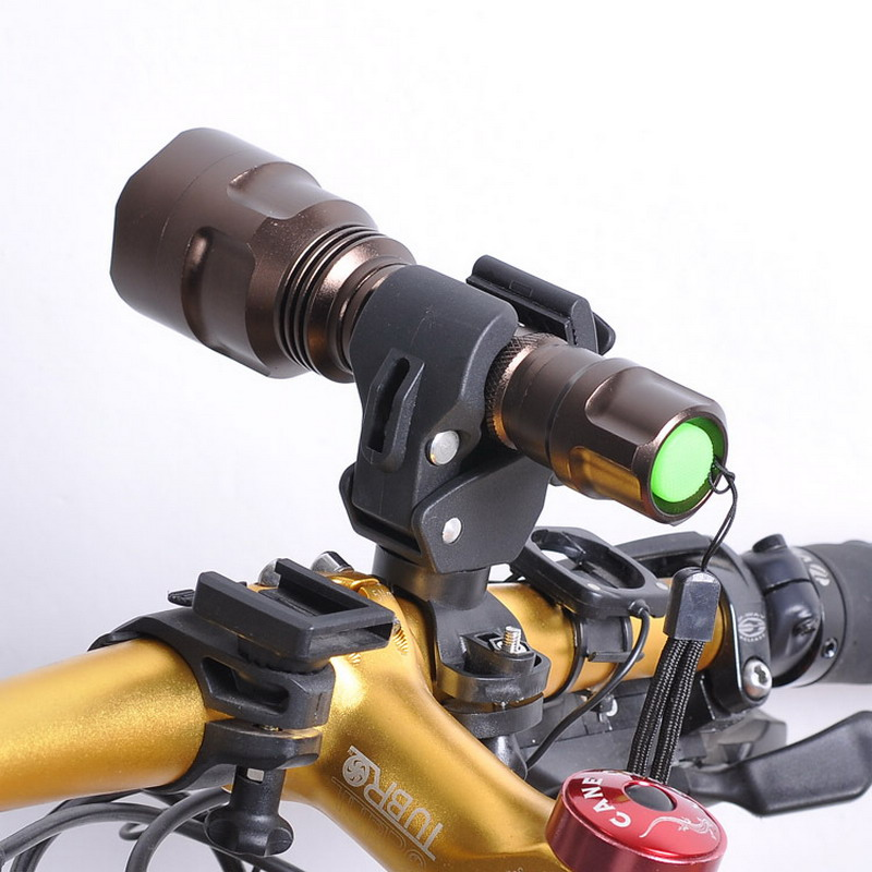 Hot! Latest Omnipotent Plastic Bike LED Flashlight Torch Bracket Holder Mount Front Light Lamp Clip For Bicycle Cyclin