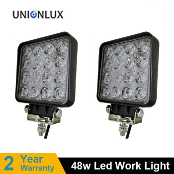 Hot sale 48W 4inch LED Work Light Spot Flood Driving Lamp for Car Truck Tractor Trailer SUV Offroads Boat 12V 24V 4X4 4WD