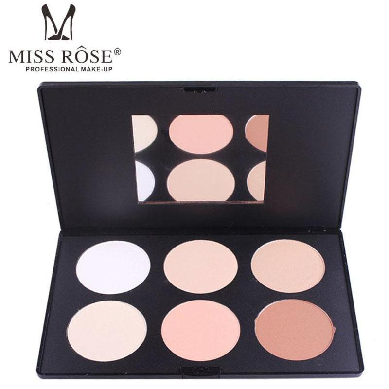 Miss Rose Concealer Pressed Powder 6 Colors Highlighter Bronzer <font><b>Contour</b></font> Makeup Corrector Palette Y2