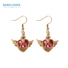 SANSUMMER Fashion Earrings Womens Love Beauty Girl Wings Exquisite Party Office Gift 6810