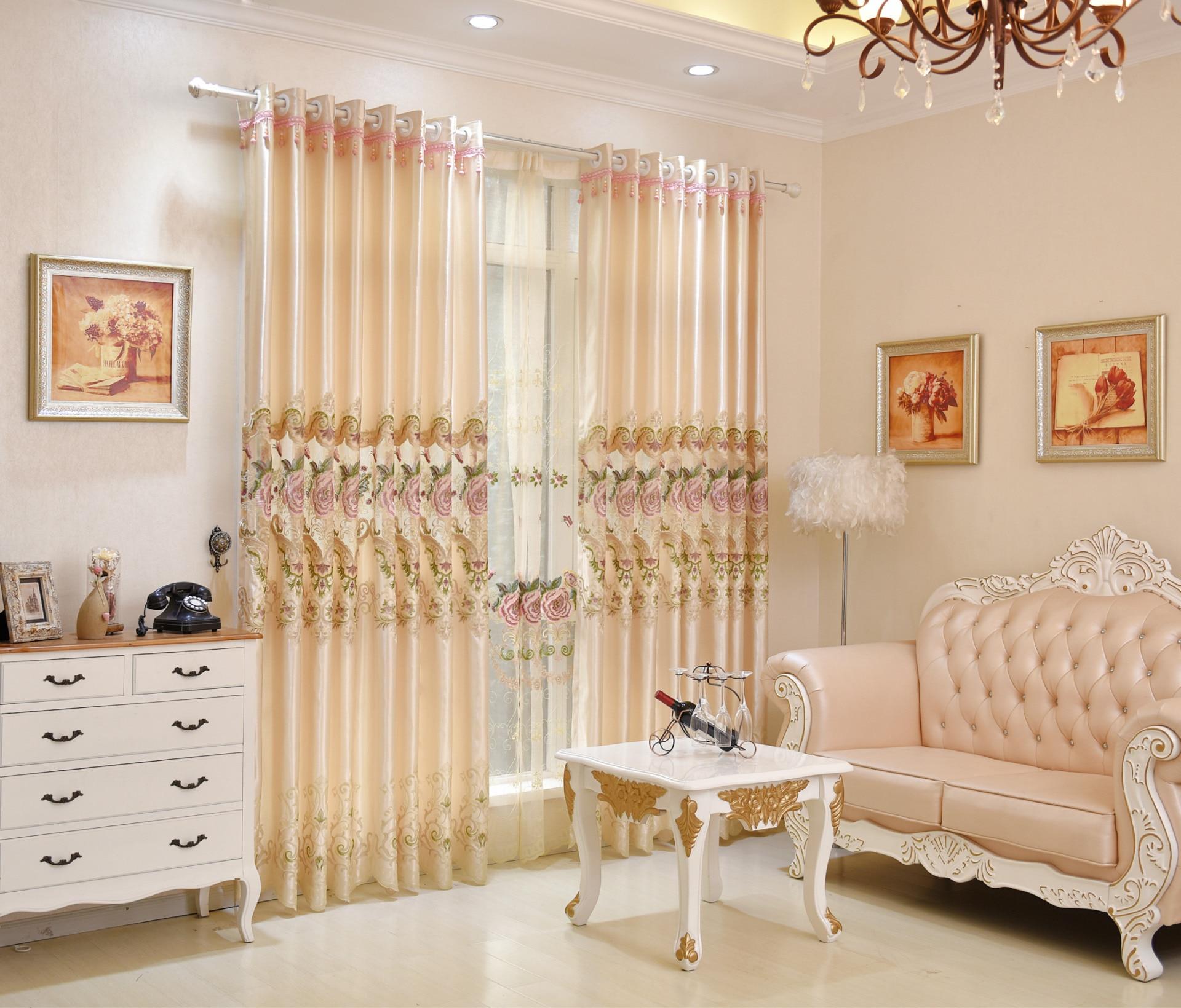 la nueva europa tipo soluble en agua bordado de hilo cortinas para saln comedor dormitorio