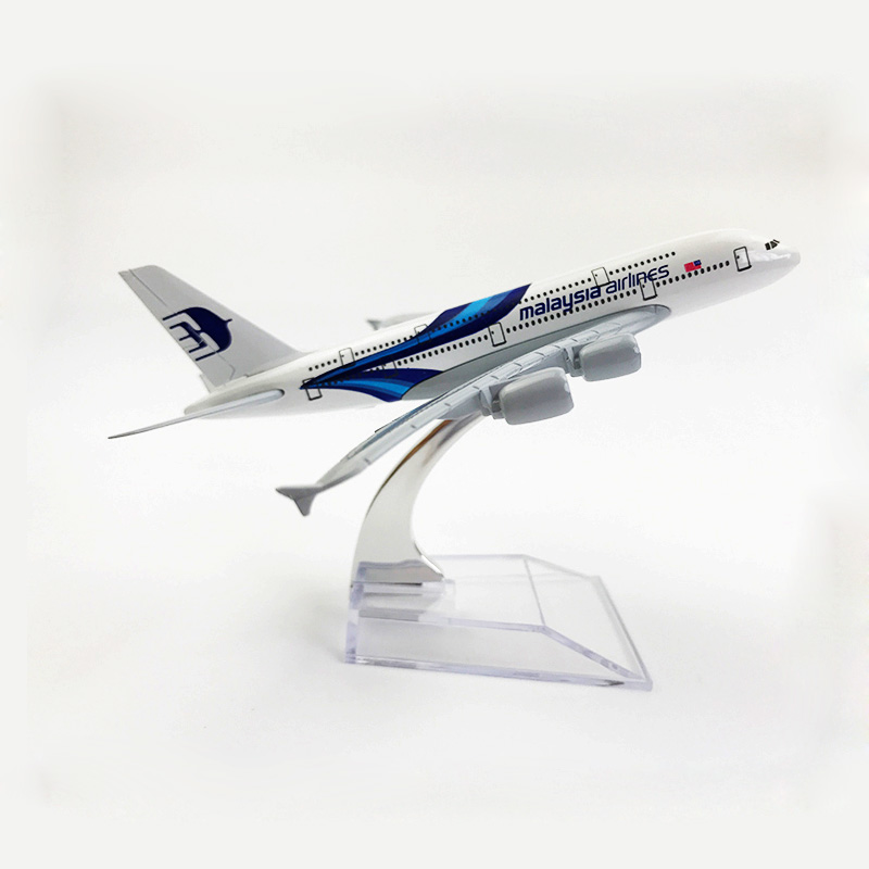 16cm A380 Malaysia Airplane Model MALAYSIA Airlines Airbus Aviation A380 Blue Wings Airbus Alloy Aircraft Model Malaysia 1:400