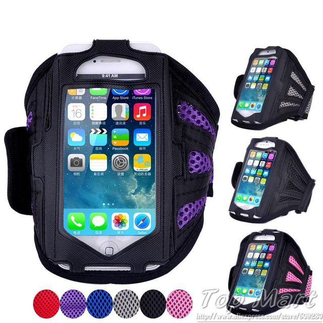Running Sport Armband for iPhone4 4S 5 5S 5C 6 6S 7 7Plus Case for S3 mini Phone Bag Universal Mesh Breathing Holes Jogging Arm