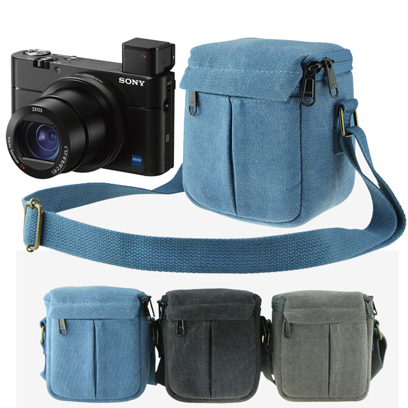 Camera Bag Case Cover For Sony DSC RX100II RX100IV RX100 M2 M3 M4 M5 V II a6300 a6000 a5000 a5100 HX90 HX60 HX50 W830 W800 WX350 image