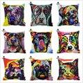 Reitor Russo Art Cat Boxer Mastiff Pitbull Cão Pug Impressão Personalizada Fronha Decorativa Capas de Almofada Do Sofá Cadeira Casa Decoração