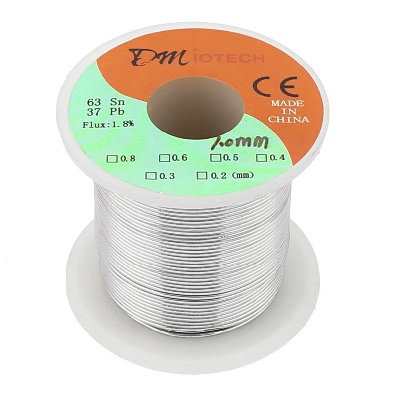 цены New Arrival Welding Iron Wire Reel 200g FLUX 1.8% 1mm 63/37 Tin Lead Line Rosin Core Flux Solder Soldering Wire Roll
