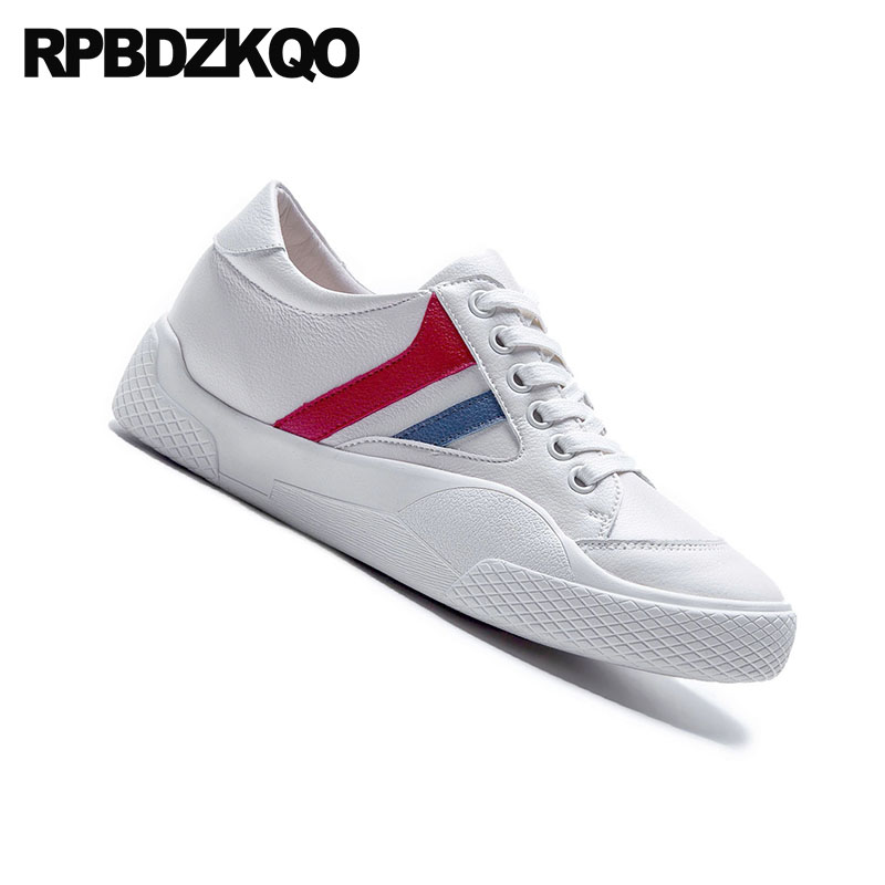 e57469a8711 10 Wide Fit Shoes Ladies Lace Up Rubber Sole Walking Large Size White Women  Genuine Leather Casual Thick Flats Sneakers China-in Women s Flats from  Shoes on ...