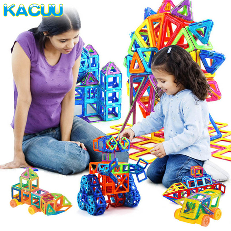 Mini Magnetic Blocks 164pcs Magnetic Designer Constructor Building Blocks & Model Building Plastic Educational Toys For Children small car shape magnetic designer building blocks model