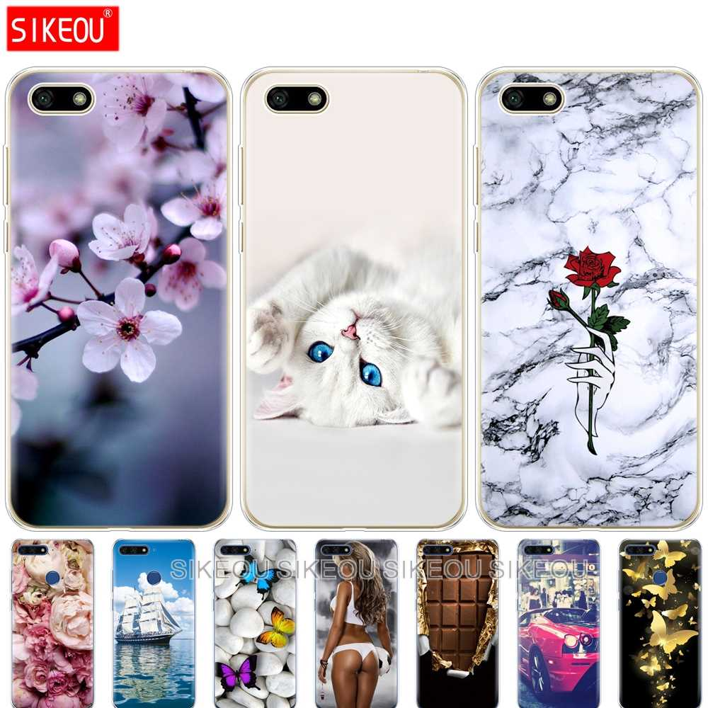 Silicone Case For Huawei Honor 7A PRO Cases huawei Y6 2018 Prime cover huawei y5 2018 prime Y9 Phone Cover soft tpu bumper new