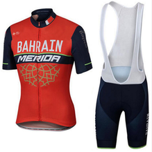 2017 New Summer Short Sleeve Cycling Jersey Quick Dry Team Bahrain Lampre MERIDA Ropa Ciclismo Quick