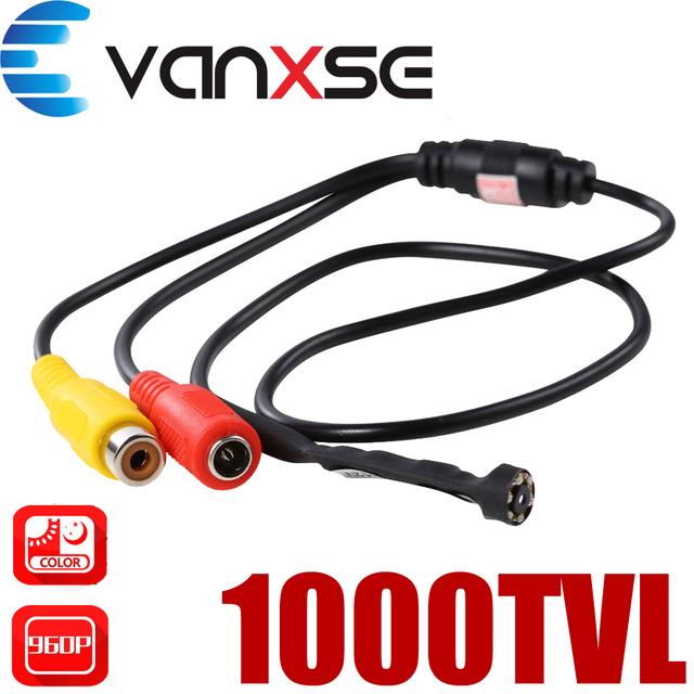 Cctv 1/3 sony ccd 1000tvl 3.6mm ângulo mais amplo 6 pcs led ir d/n 90 grau lente grande mini hd câmera de vigilância de segurança