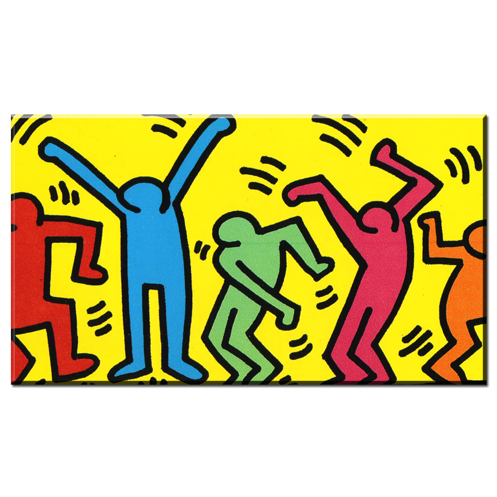 Cute Keith Haring Wall Art Contemporary - The Wall Art Decorations ...