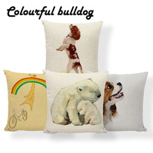 Pillow-Covers Cushion Panda-Pillow Charles Cavalier Polyester Dog King Ethnic Spaniel