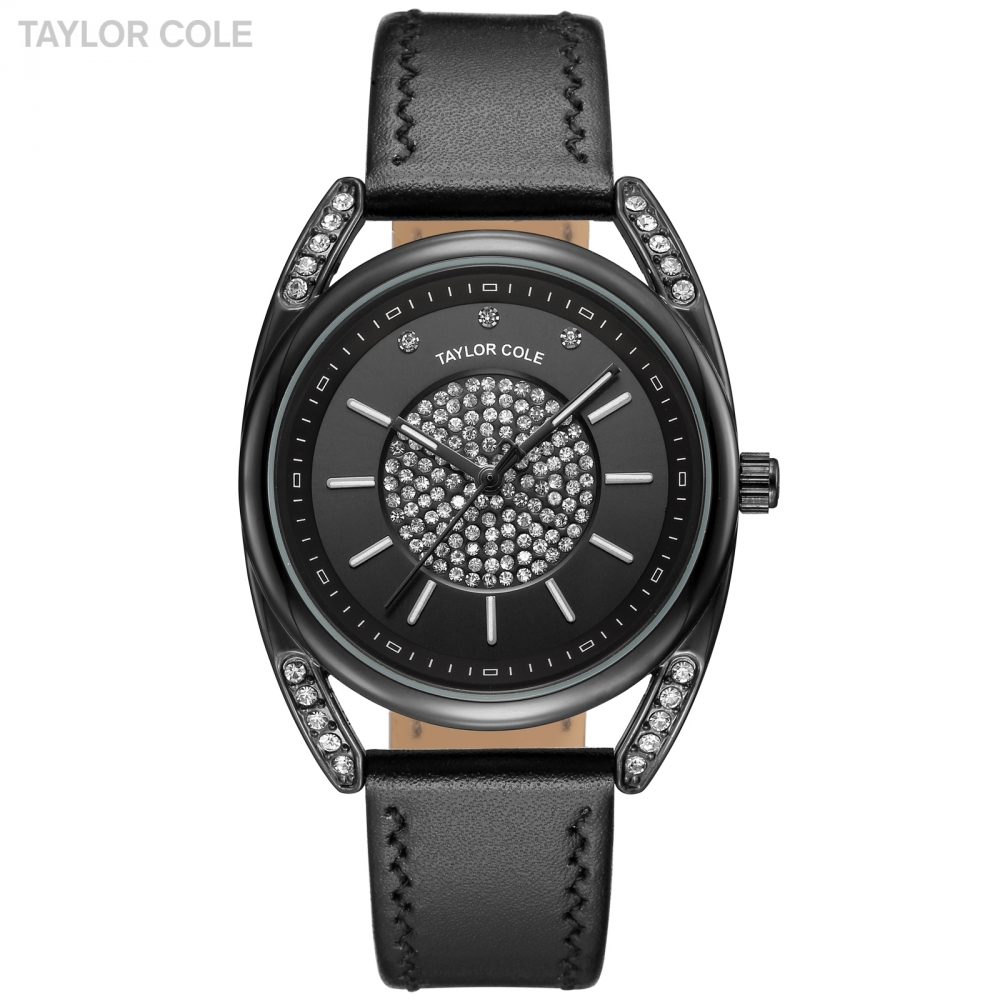 New Taylor Cole Women Watches Casual Ladies Clock Leather Strap Feminino Reloj Mujer Black Quartz Wrist Watches Gift Box /TC140 kinfire square 18w 6500k 1610lm 90 x smd 3528 led white light ceiling lamp w driver ac 85 265v