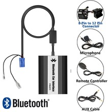 APPS2Car Hands-Free Car Bluetooth Adapter USB Auxialiary Input Mp3 Adapter for Renault Traffic 2009 -2011