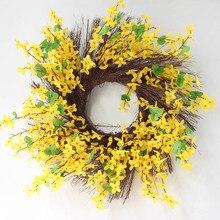Artificial Lavender Flower Wreath Garlands Door Wall Window Hanging Fake Flowers Party Wedding Decoration Home Garden Supply