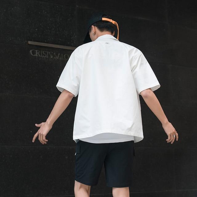 Men's Shirt Summer Short Sleeve Shirt Solid Color Comfortable Men's Tops Fashion Clothes 1