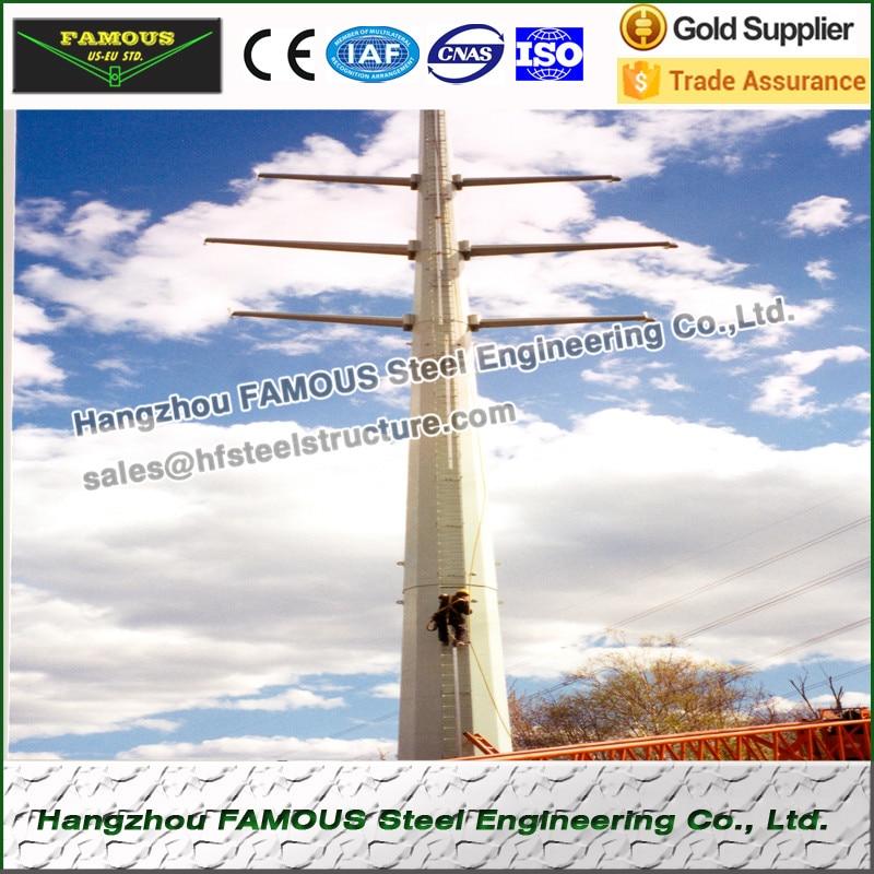 Sonnig Umspannwerk Frameworks Wind Power Türme Rohr Turm Mast Oder Stahl Pole Monopole Power Übertragung Linien Elegant Und Anmutig