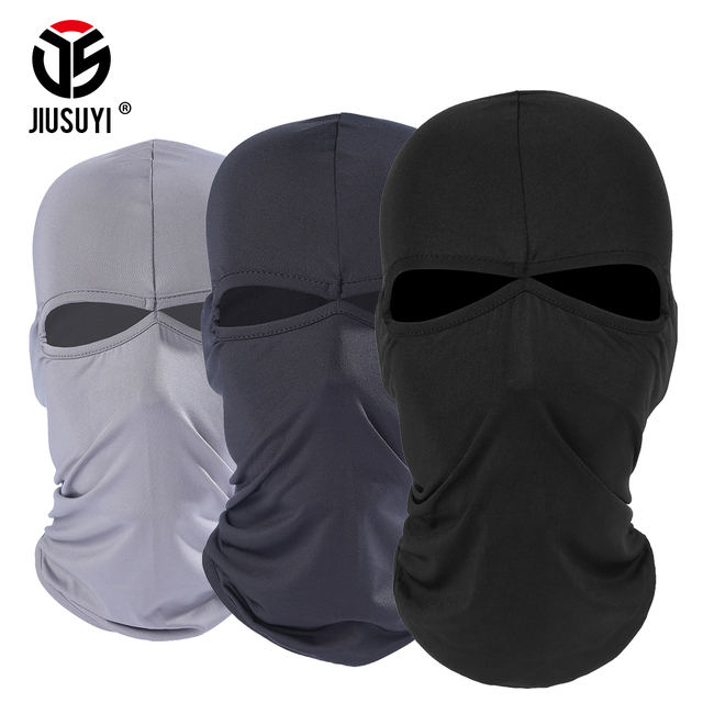 116b4b4a57a 2 Hole Balaclava Full Face Mask Windproof Combat Hats Cap Tactical Airsoft  Bicycle Paintball Helmet Liner Protection Men Women