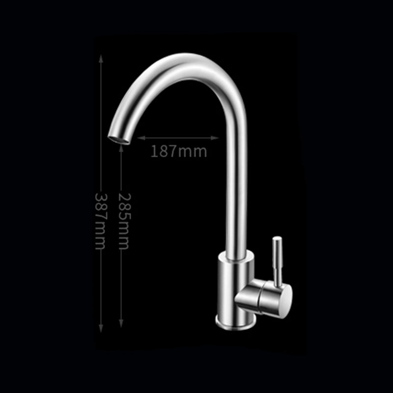 COROTO Bathroom Brushed Stainless Steel Basin Faucet Hot & Cold Water Mixer Tap Torneira Sink Faucet DW-001