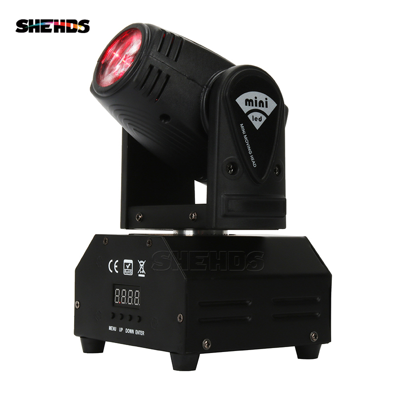 Mini LED Spot Beam Moving Head 10W/4IN1 Lighting Automatic/Console Light Beam DJ Light Mini LED Free Shipping Disco Party Light
